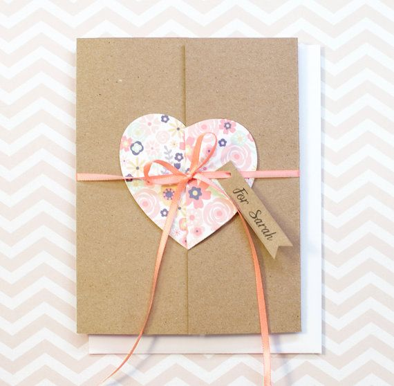Will you be my Bridesmaid? Kraft Trifold Card with Custom Tag