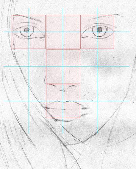 Weibliches Gesicht zeichnen lernen - Porträt - Portait - Frau - Mund Nase Zeichenkurs
