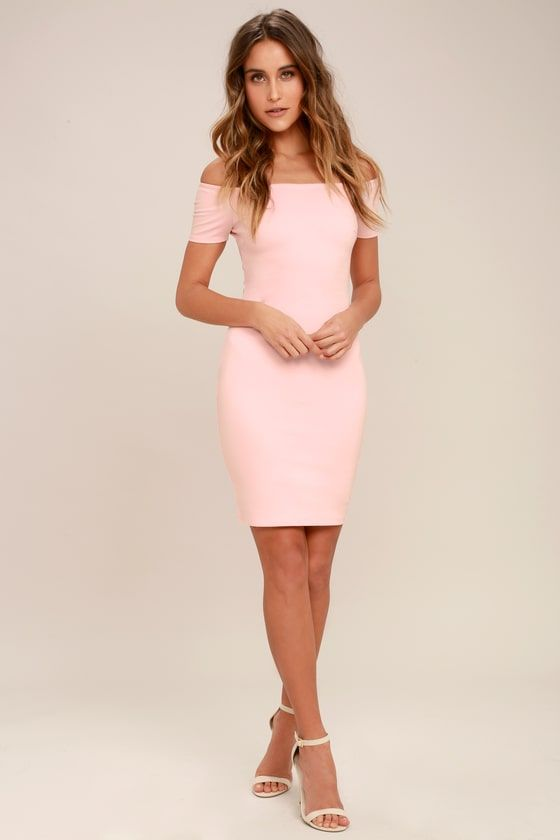 db191cf3aa4 Me Oh My Blush Pink Off-the-Shoulder Bodycon Dress 7