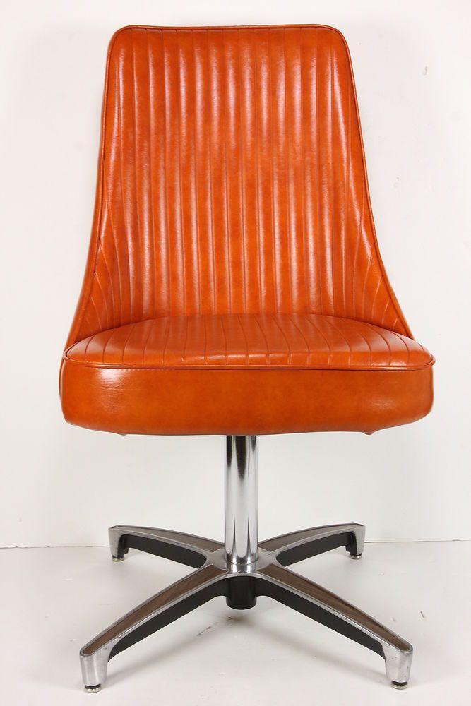 Vintage Mid Century Modern Chromcraft Swivel Chair Free