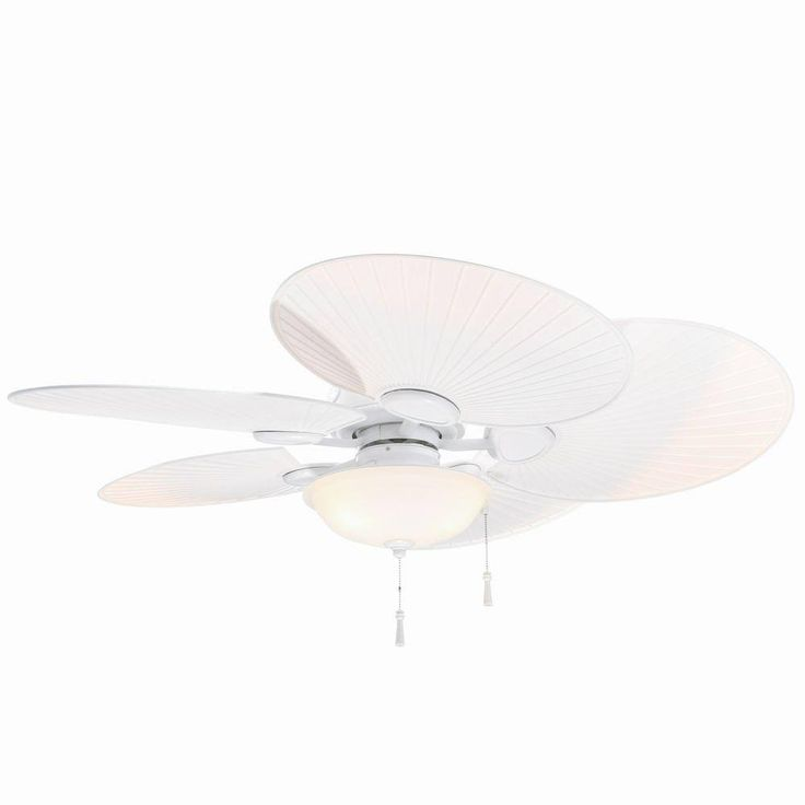 Hampton Bay Ceiling Fans Havana 48 in. Indoor/Outdoor Matte White Ceiling Fan 51237