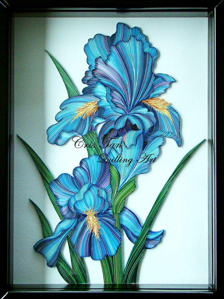 quilled iris