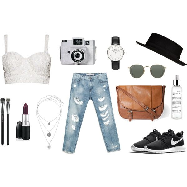 spring inspiration by andreafindyway on Polyvore featuring Alice + Olivia, Zara, NIKE, Daniel Wellington, Miss Selfridge, Ray-Ban, River Island, MAC Cosmetics, philosophy and Holga