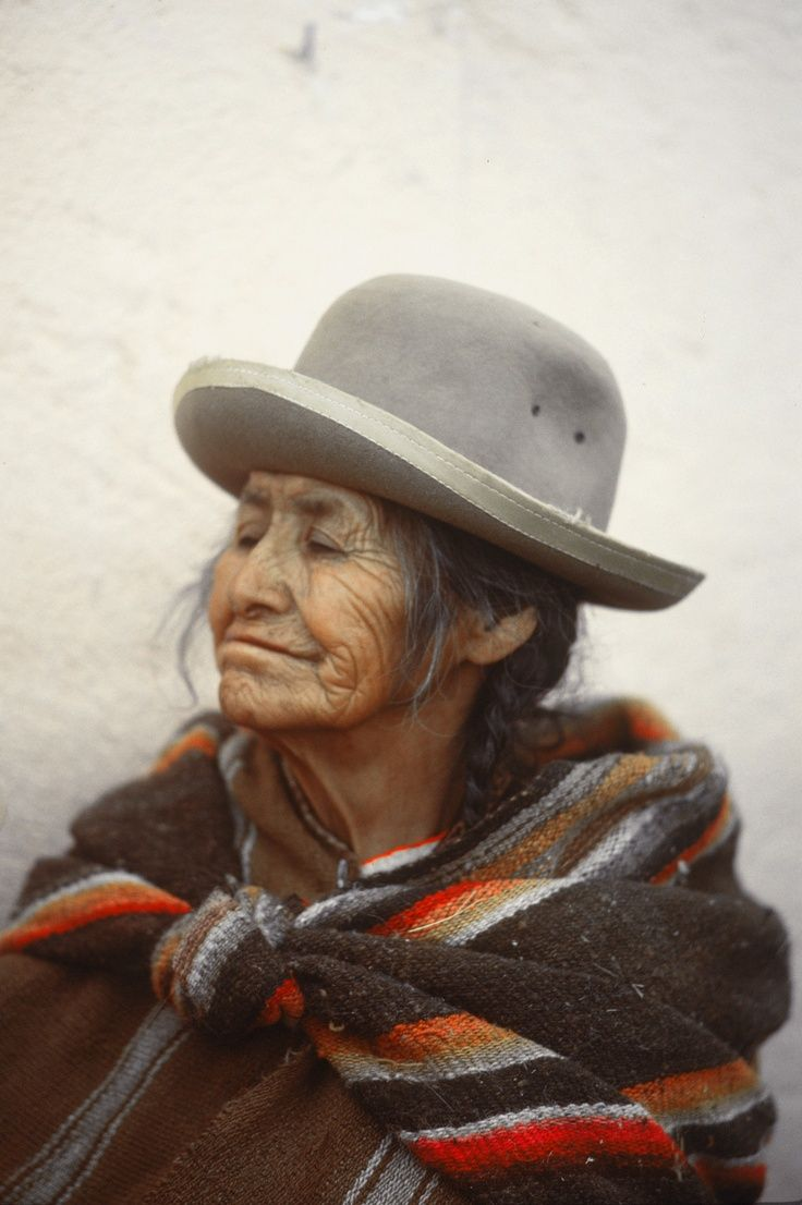 Aymara from La Paz, Bolivia. 1978.  Photography by Roger Yorke