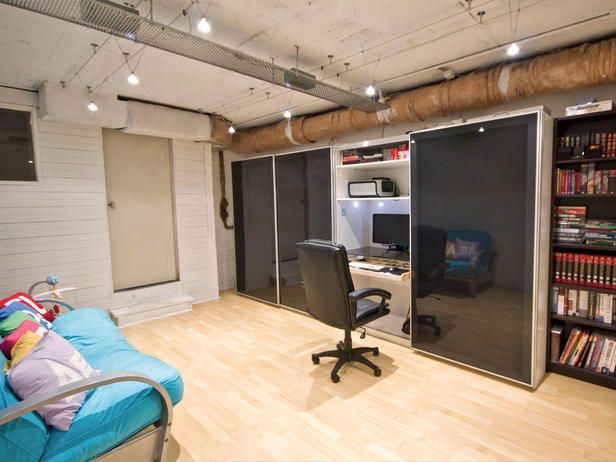 Use an IKEA PAX wardrobe to make a hideaway office. Anywhere! Perfect for Keith!