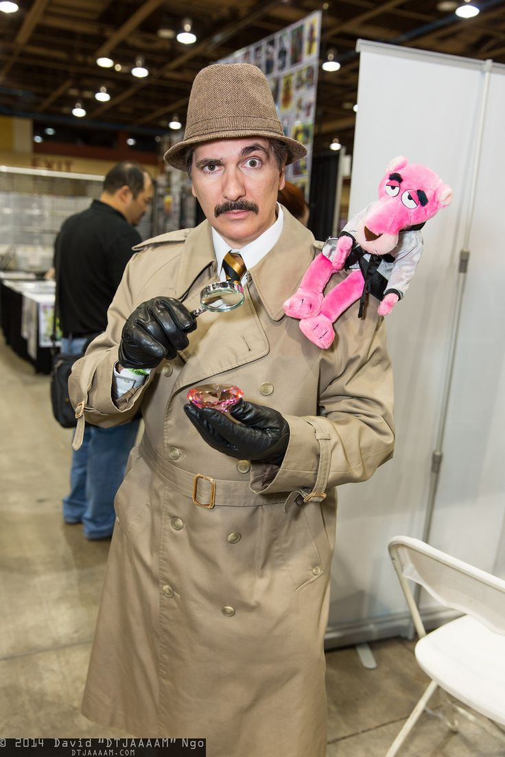 Inspector Jacques Clouseau and the Pink Panther | Amazing Arizona Comic Con 2014 #cosplay, Photo by DTJAAAAM