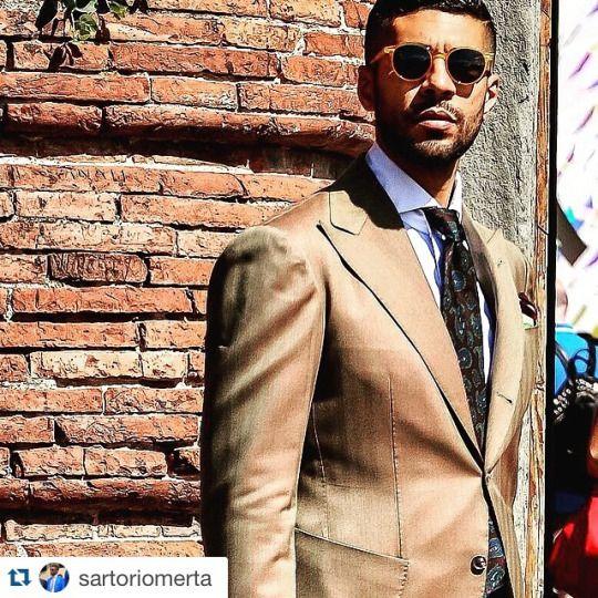 SARTORIALE - A great shot of our friend @sartoriomerta in @sciamatofficial #solaro suit.
