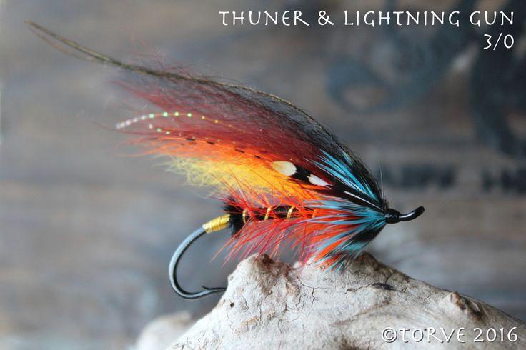 Salmon Fly Thunder & Lightning Gun Variant. Salmon Flies tied by Torve @ Scandiflies.com