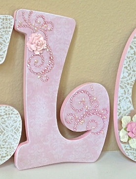 Nursery letters baby name art custom nursery room decor- any color any theme- $16.75, via Etsy.