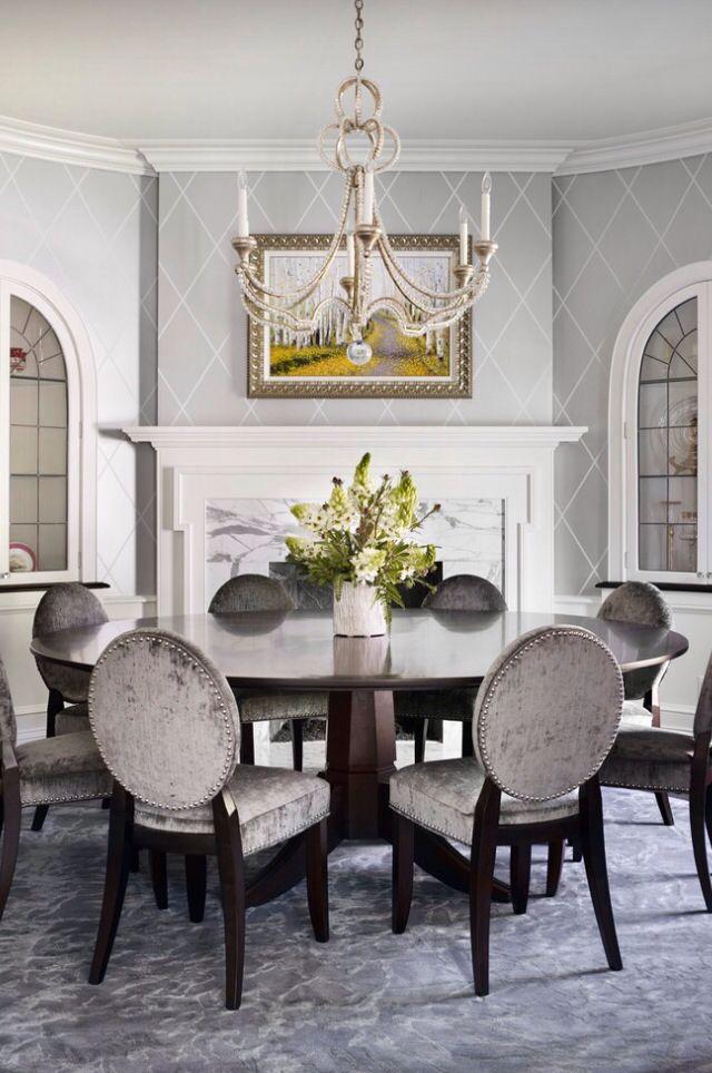 Velvet Dining Chairs Dining Room Wallpaper Modern Dining Room