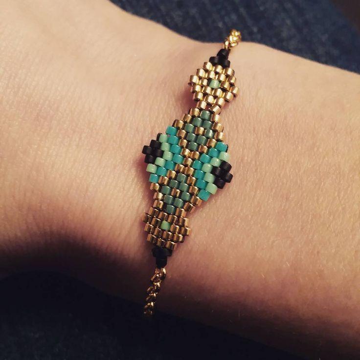 """«Et voici le bracelet """"Augustine""""! #lesmidinettes #diy #perlesmiyuki #miyuki #bracelet #bijoux #jewlery»"""