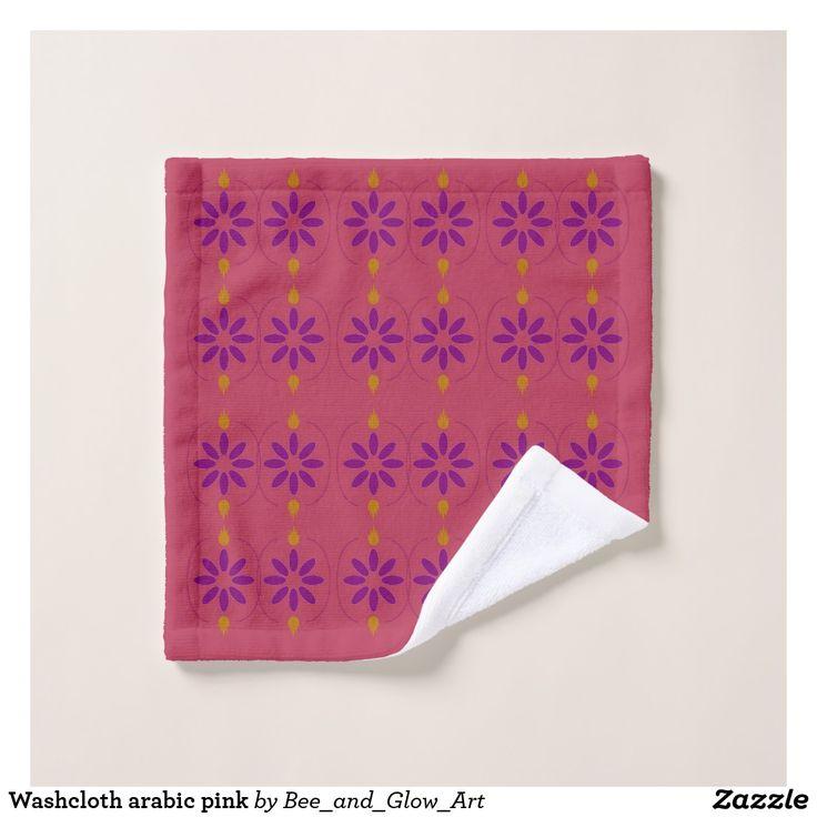 Washcloth arabic pink