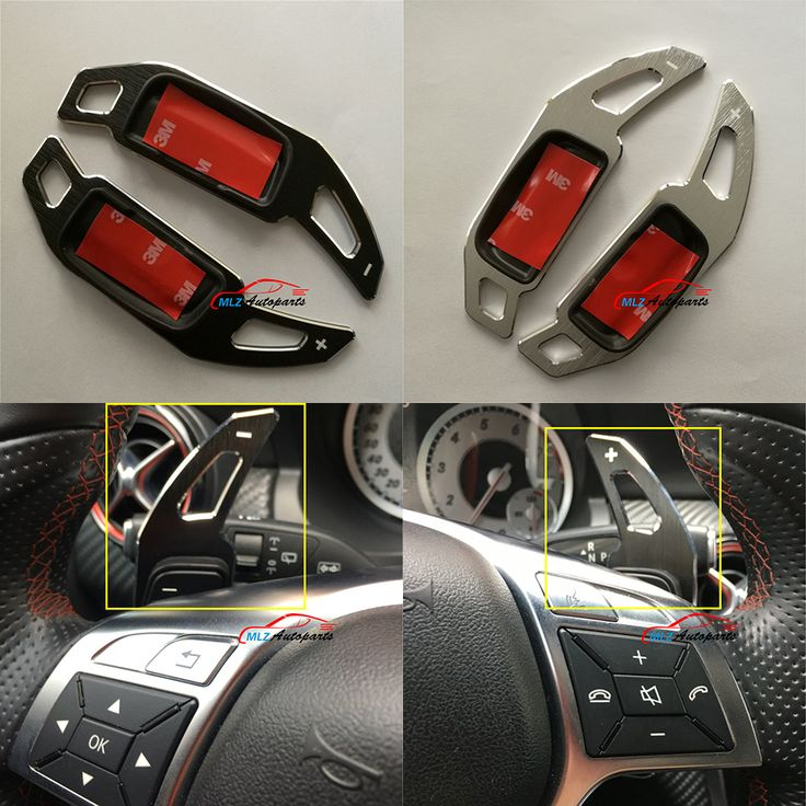 For Mercedes E class W212 2011 2012 2013 2014 Benz Car Steering Wheel Shifters Paddle Switch Trim Cover Type A Aluminium Alloy