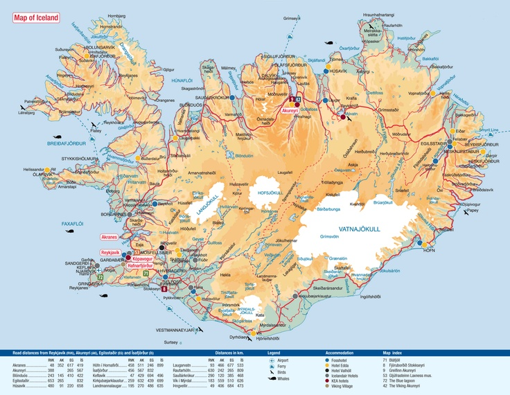 Mapa de Islandia extraído de Google
