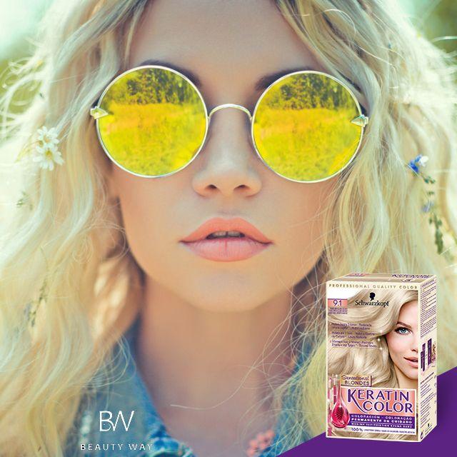 Eσύ βρήκες το γυαλί που πάει τέλεια με την νέα sensational blonde απόχρωσή σου; #Keratin color #CareForHair #beautyway