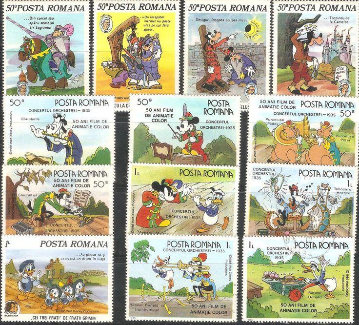 Walt Disney Stamps Romania 1985-86 Very Fine MNH