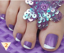 Purple toe nails :-)