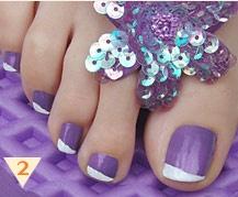 toe nailsNails Nails, Purple Toenails, Toes Design, Nails Design, Pedicures Nails Art Design, Summer Nails, Purple Toes Nails Art, Manicure Pedicures, Pedicures Ideas