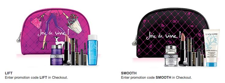 Choose one of three cosmetics bags filled with deluxe samples with your $39.50 Lancôme purchase @Nordstrom. Promotion code required. Click h...
