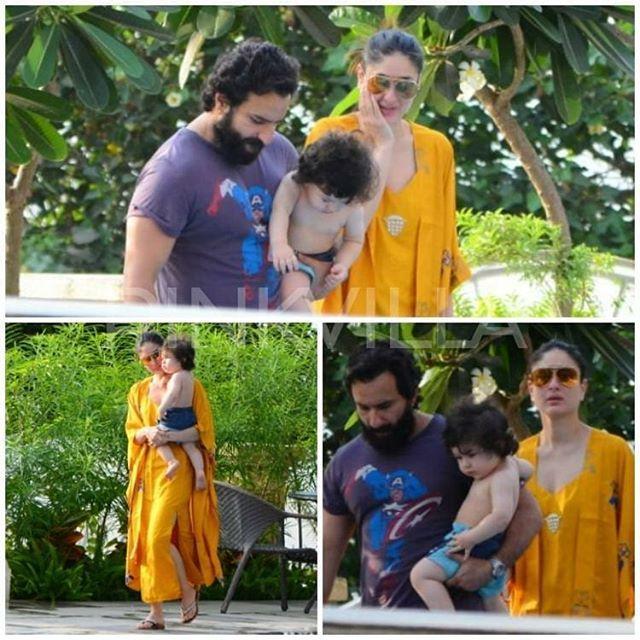 Taimur Ali Khan Enjoys Some Pool Time With Saif Ali Khan And Kareena Kapoor Khan Follow Pinkvilla F Kareena Kapoor Khan Taimur Ali Khan Kareena Kapoor