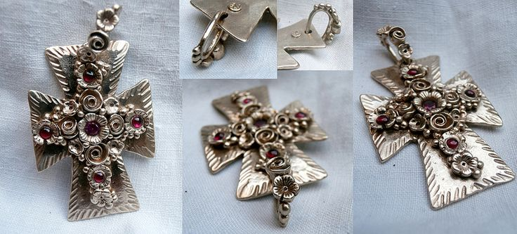 """""""khatchkar"""" croix arménienne orthodoxe en bronze"""