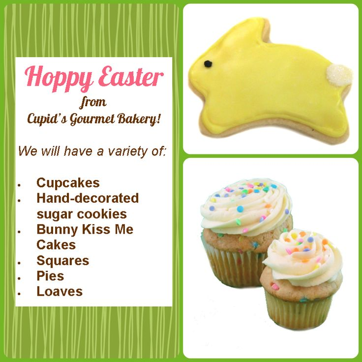 Happy Easter from Cupid's Gourmet Bakery @cupidsbakery #Oakville #ShopLocal