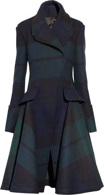 I want this Alexander McQueen | Tartan coat.