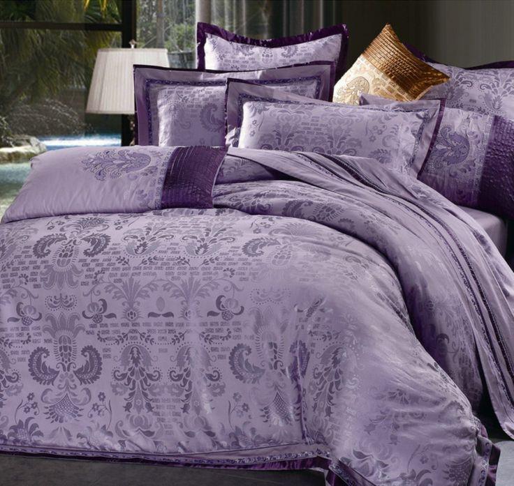 die besten 25 lila und graue bettw sche ideen auf. Black Bedroom Furniture Sets. Home Design Ideas