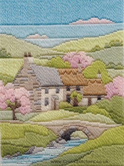 Spring Cottage Long Stitch Kit From Derwentwater Designs