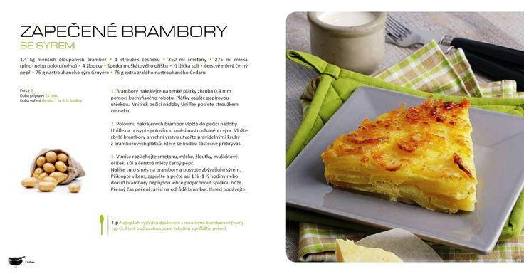 Zapečené brambory se sýrem, recept Tefal Uniflex