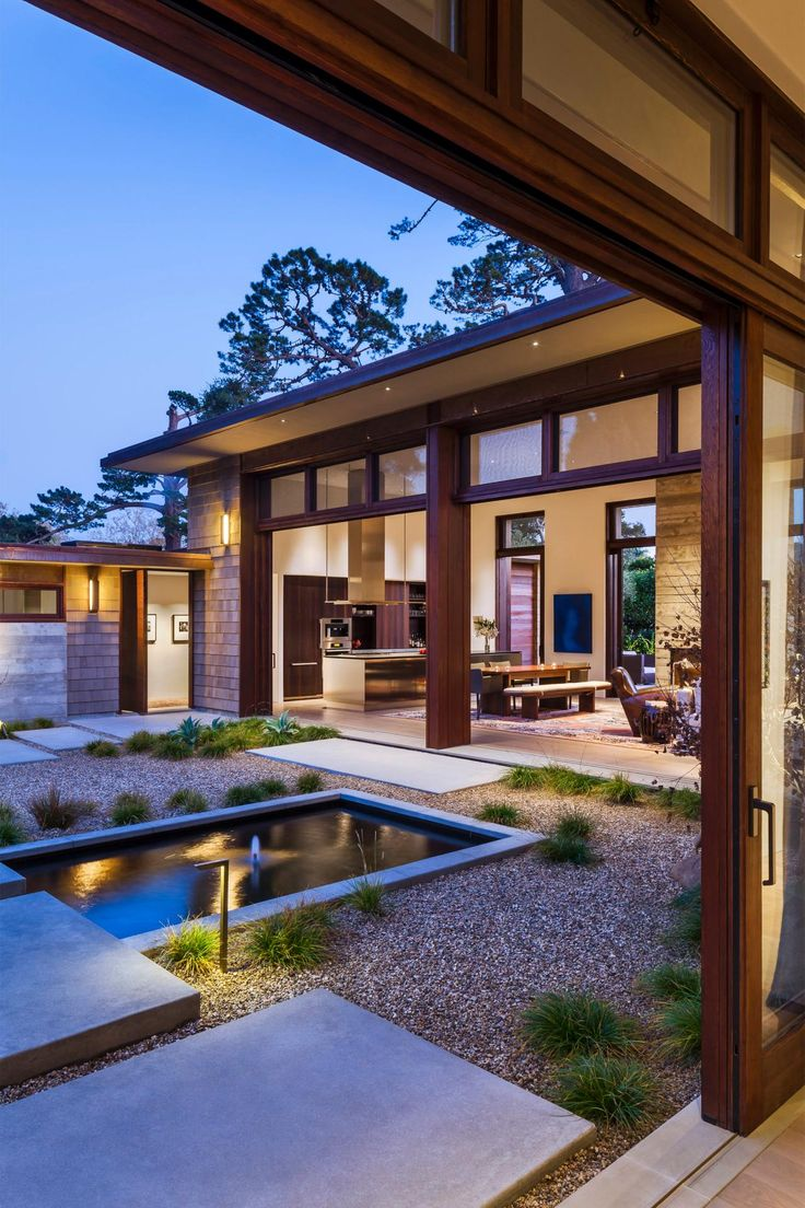 Indoors and outdoors seamlessly blend at this gorgeous - Asian house designs and floor plans ...