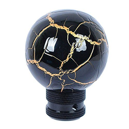 Eternalpower Universal Fit Black Thunder Ball Bolt Automatic Manual Shifter Knobs Fit For Most Cars Gear Stick Shift Knob With Gold Line * Want to know more, click on the image.Note:It is affiliate link to Amazon.