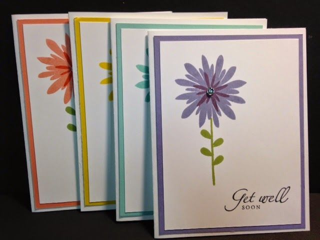Good Rubber Stamp Card Making Ideas Part - 1: Flower Patch, Gift Pack Of Greeting Cards, Stampinu0027 Up!, Rubber Stamping