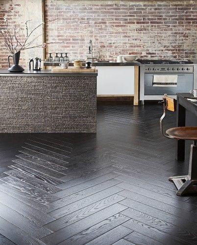 Gorgeous floorboards, Herringbone Black