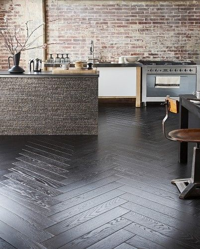 Herringbone Black beautiful engineered wood flooring