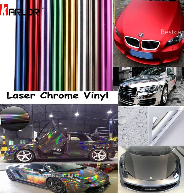 Glossy Laser Chrome Holographic Matte Gloss Vinyl Film Car Wrap Sticker Decal #Unbranded