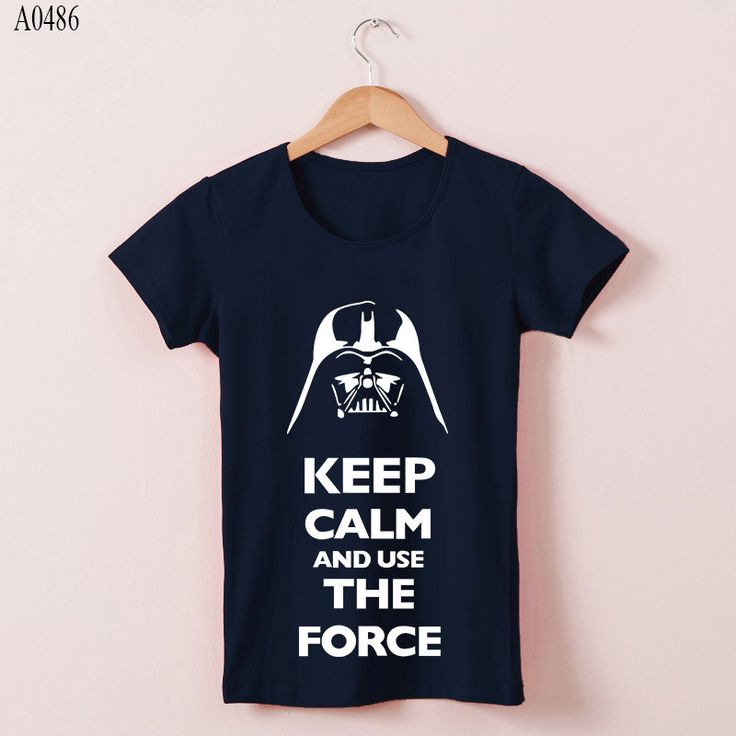 Women T Shirts Star Wars Keep Calm