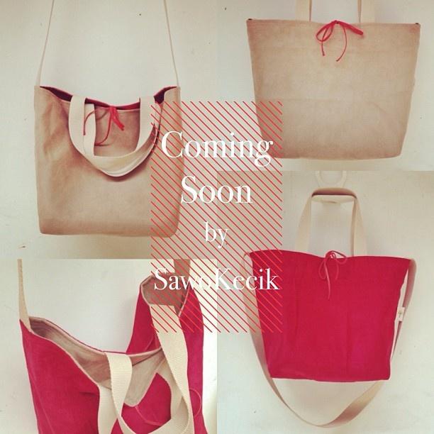 "Coming Soon : ""Suede Reversible Tote Bag"" by #sawokecik ... Ditungguuu ... ^.^"