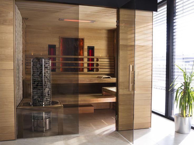 Design Saunaroom   Tower-aggregat och infrapaneler gör en komplett bastu!