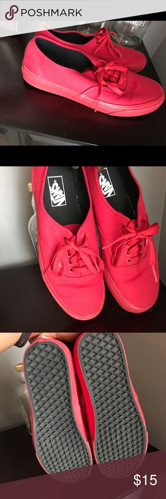 Men vans All red vans in great condition...as always I need them gone asap..the right price it's yours with an offer/no box Vans Shoes Sneakers