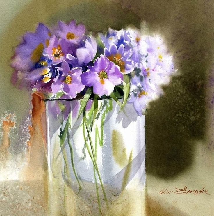 Shin Jong Sik ~ Korean Watercolor painter   Tutt'Art@   Pittura * Scultura * Poesia * Musica  