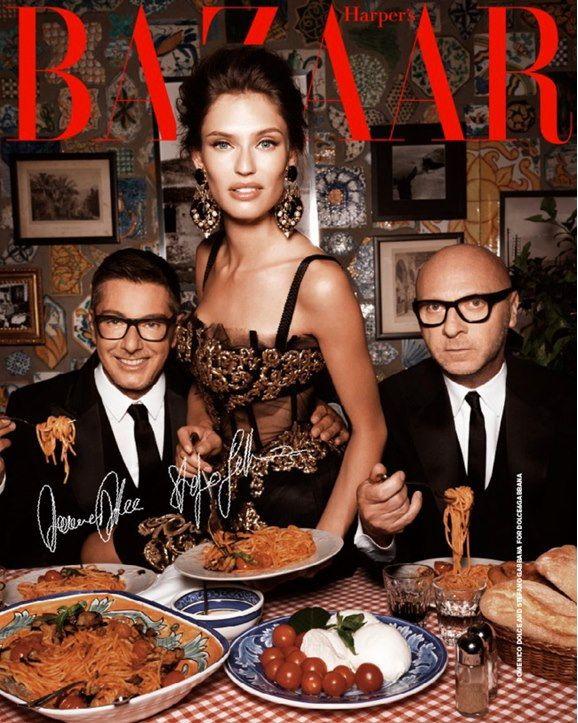 Domenico Dolce and Stefano Gabbana with Bianca Balti for Harper's Bazaar China, October 2012 #dolcegabbana