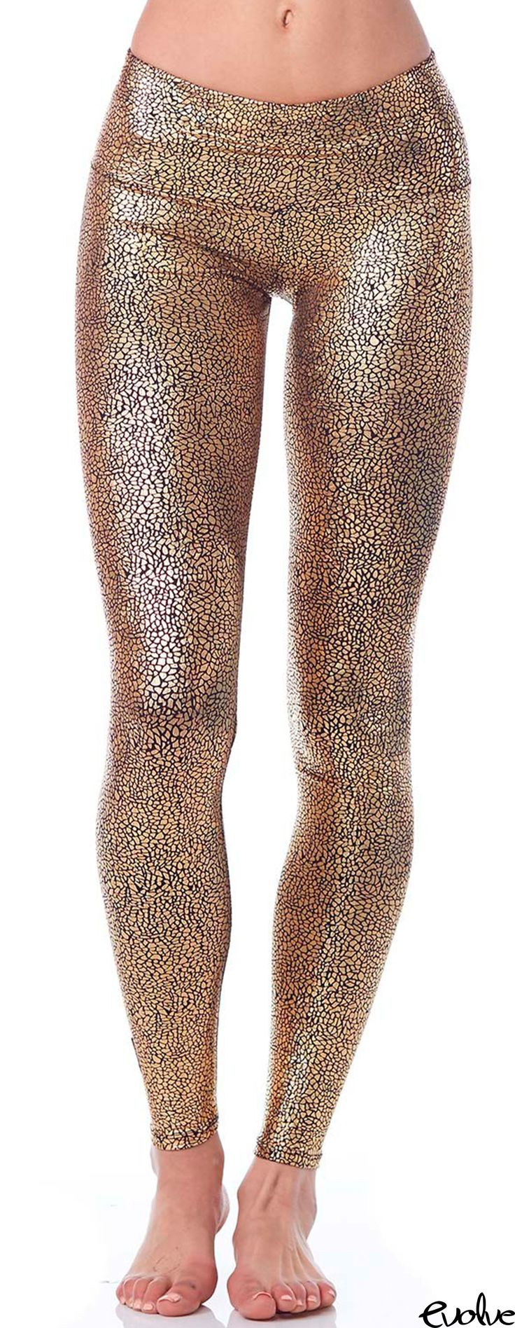 It's pretty obvious why these leggings are so popular - Gold + Sparkles = Win! Shop Purusha People now at www.evolvefitwear.com.