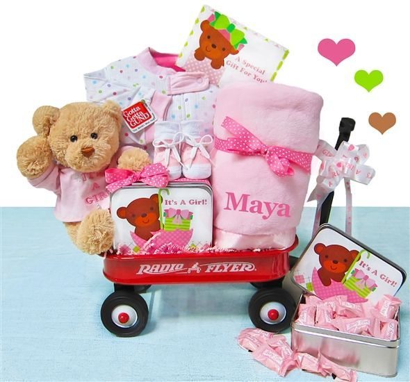 baby welcome wagon | welcome baby | Baby girl gift baskets ...