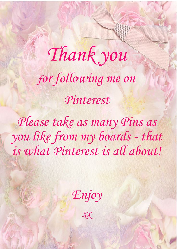 Thank you for following me, liking my pins, and sharing them with others.   Have a wonderful day everyone! - PW ♥