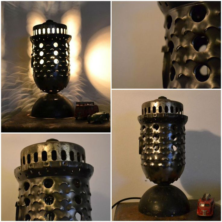 Industrial Lamp Made From Recycled Airplane Parts