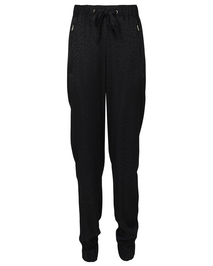 French Connection Liquid Leopard Black Trousers