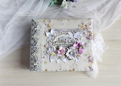 """Моё любимое хобби: Свадебный альбом из коллекции """"Цветы Прованса""""."""