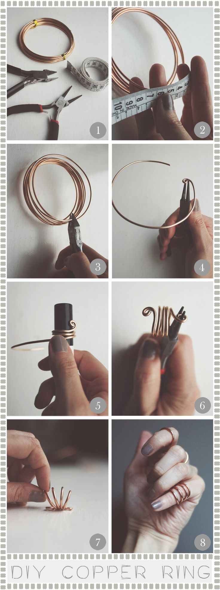 diy kobber ring