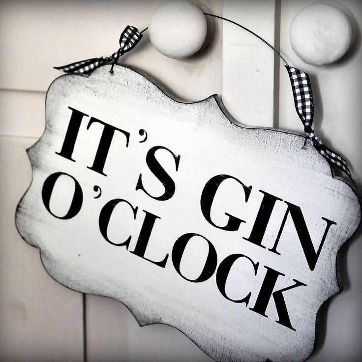'It's Gin O'clock' Vintage Style Sign - gift?